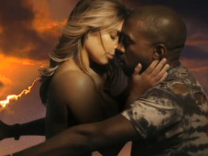 """Kanye West Rides A Motorcycle With Topless Kim K In """"Bound 2"""" Video"""